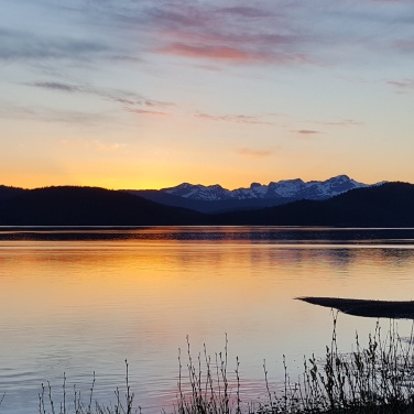 Sunset over Hawkins island, Cordova Alaska