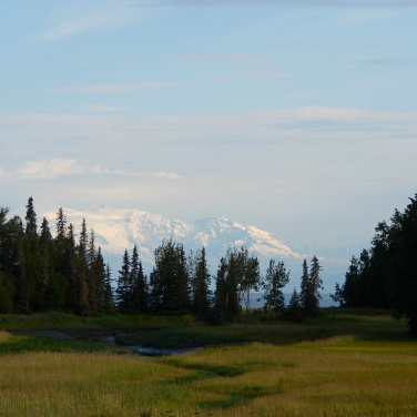 Mount Spur seen from Kenai Peninsula Alaska